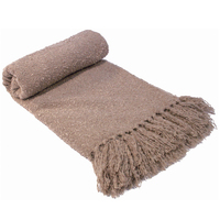 Bambury Boucle Throw Rug (Latte)