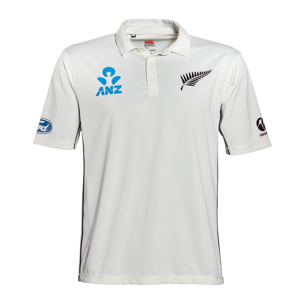 NZ Blackcaps Mens Replica Test Shirt (Small) image