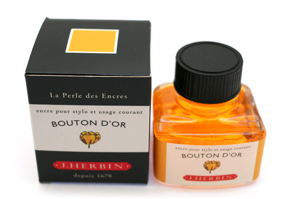 J Herbin: Fountain Pen Ink - Bouton D'or (30ml)