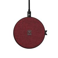Moyork: WATT 5/7.5/10W QI Wireless Charger - Merlot Red Fabric