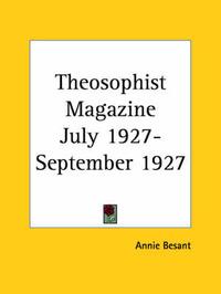 Theosophist Magazine (July 1927-September 1927)