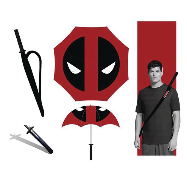 Marvel Deadpool Katana Umbrella