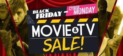 Black Friday - Cyber Monday Movie & TV Sale!