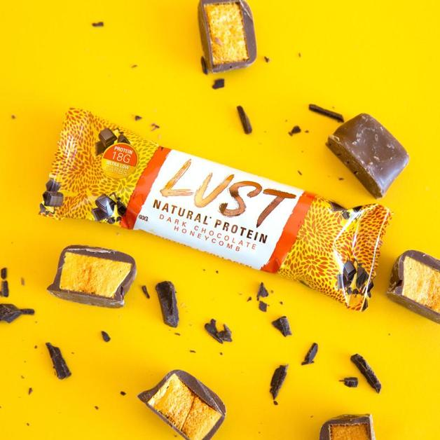 EHP Labs: Lust Protein Bars - Dark Chocolate Honeycomb (Box of 12)