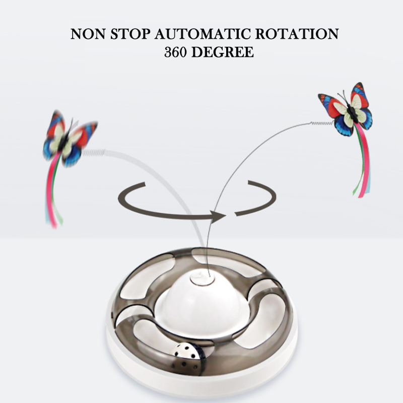 Butterfly Turntable - Interactive Pet Toy image