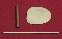 Brass Rudder for Dumas Model Kit #1203, 1205, 1206, 1210