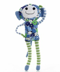 Pebble Blue Flower Monkey