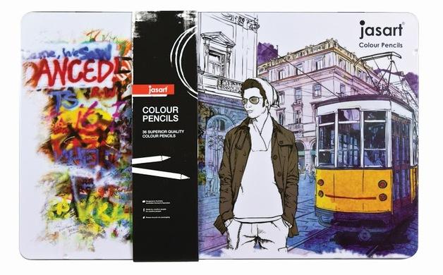 Jasart: Studio Colour Pencil - Tin of 36