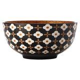 Christopher Vine: Marigold Bowl - White Flower (18cm)