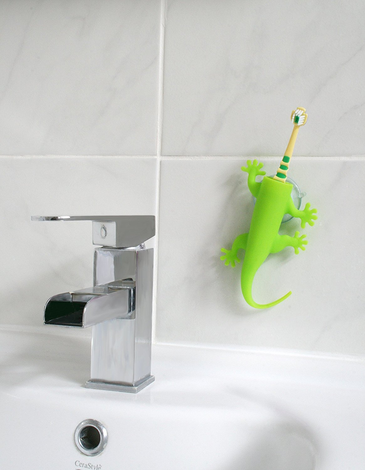 J-me: Larry the lizard Toothbrush Holder- Green image