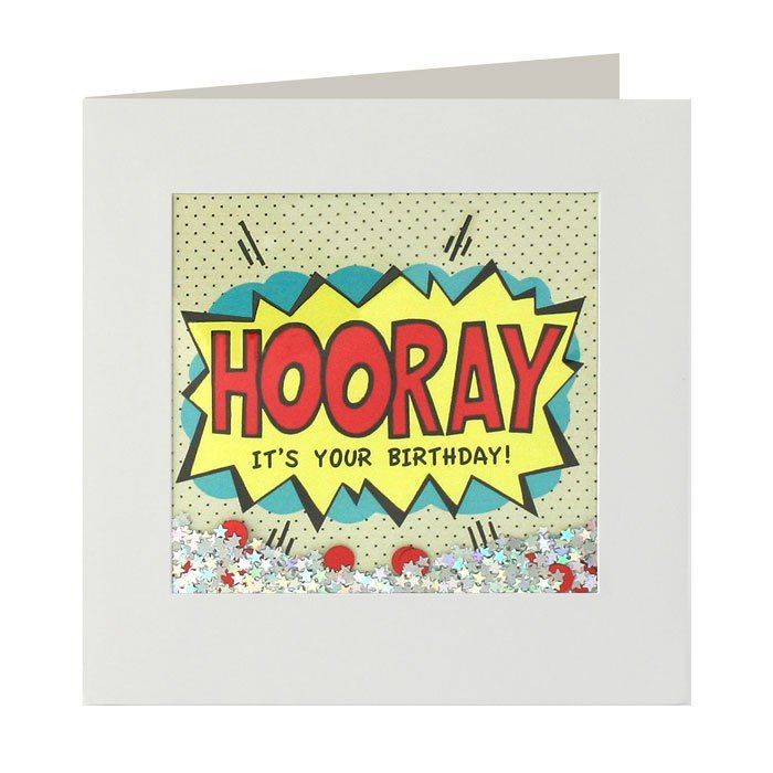 Hooray Birthday Shakies Card image