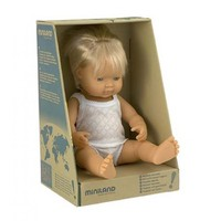 Miniland: Anatomically Correct Baby Doll - Caucasian Boy (38cm) image