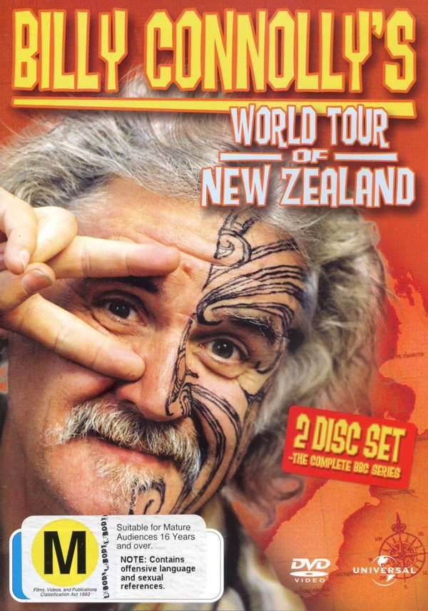 Billy Connolly's World Tour Of New Zealand - The Complete Series (2 Disc Set) on DVD image