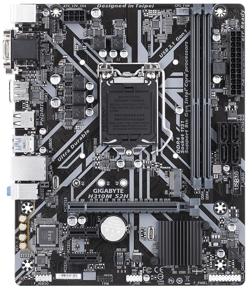 8d1dae7a7ce Gigabyte H310M S2H MATX Motherboard | at Mighty Ape NZ
