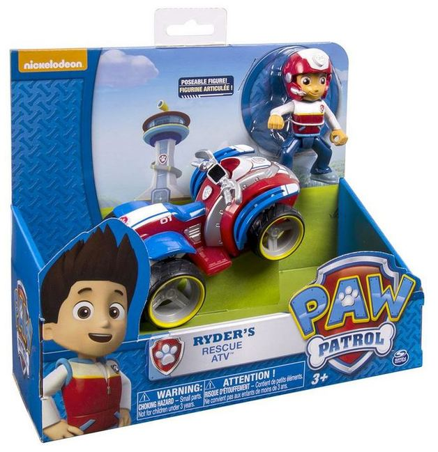 Paw Patrol Basic Vehicle & Pup - Ryder's Rescue ATV