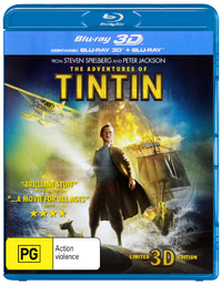The Adventures of Tintin: Secret of the Unicorn on Blu-ray, 3D Blu-ray