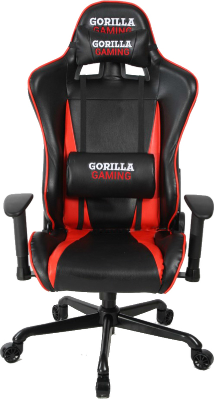 Gorilla Gaming Commander Chair - Red & Black for