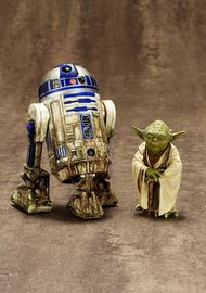 Star Wars Yoda and R2-D2 Dagobah ArtFX+ Statue (3-Pack)
