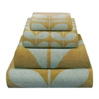 Orla Kiely Stem Jacquard Bath Sheet - Olive & Duck Egg