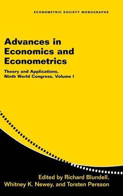 Econometric Society Monographs Advances in Economics and Econometrics: Series Number 41: Volume 1 image