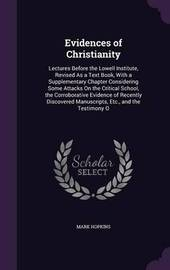 Evidences of Christianity by Mark Hopkins image