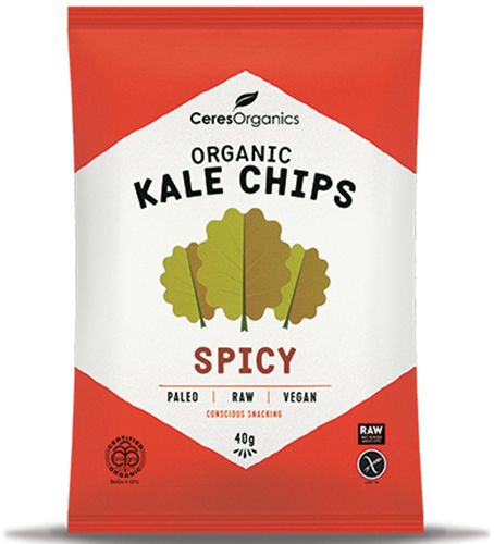 Ceres Organics Kale Chips Spicy 40g