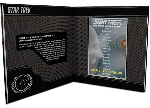 NZ Mint: Star Trek - Silver Coin Note & Album - Encounter At Farpoint (5g Silver)