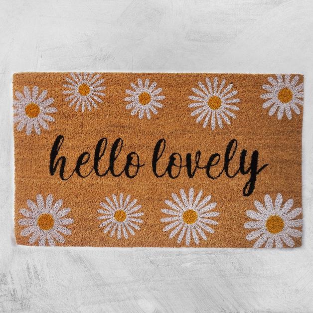 Natural Fibre Doormat - Hello Lovely