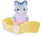 Sylvanian Families - Gray Cat Baby