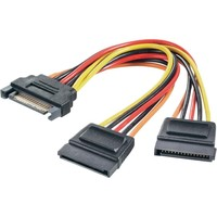 Digitus SATA Power to 2x SATA Power Cable (0.15m)