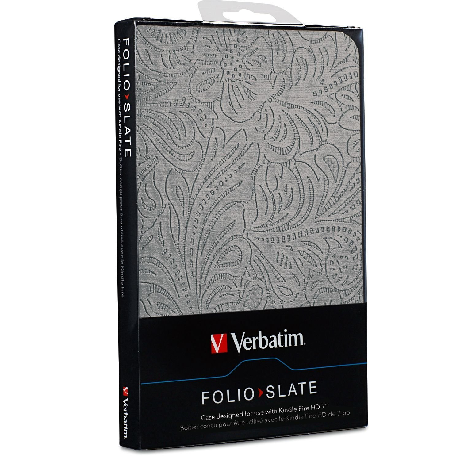 "Verbatim Folio Case for Kindle Fire HD 7"" - Slate Silver image"