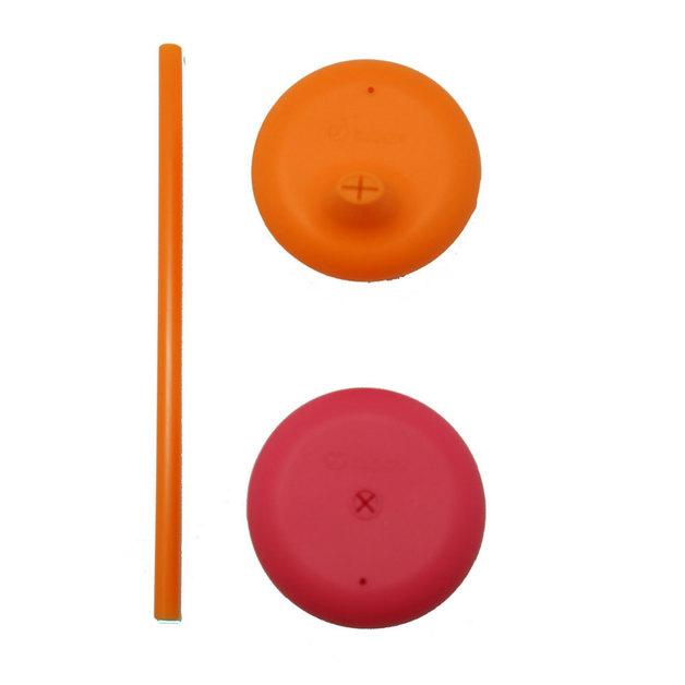 B.Box: Universal Silicone Lids - Strawberry Shake