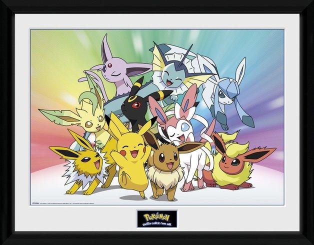 Pokemon: Pikachu & Eevee's Evolutions - Collector Print (41x30.5cm)