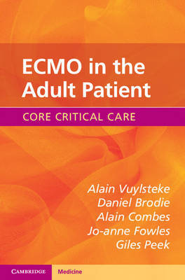 ECMO in the Adult Patient by Alain Vuylsteke image