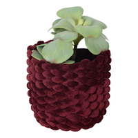 Moxy Velvet Pot Holder (Small) - Burgundy