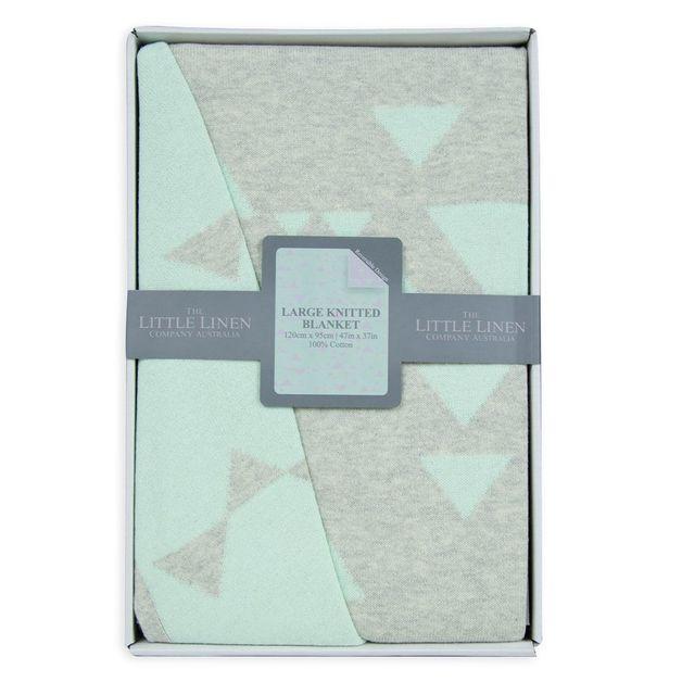 Little Linen: Cotton Cot Knit Blanket - Sega
