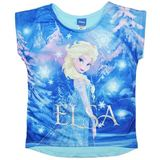 Disney Frozen Blue Elsa T-Shirt (Size 7)