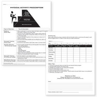 Physical Activity Prescription Pads (Set of 2)