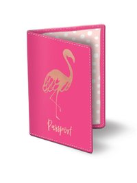 Lady Jayne: Flamingo Passport Cover