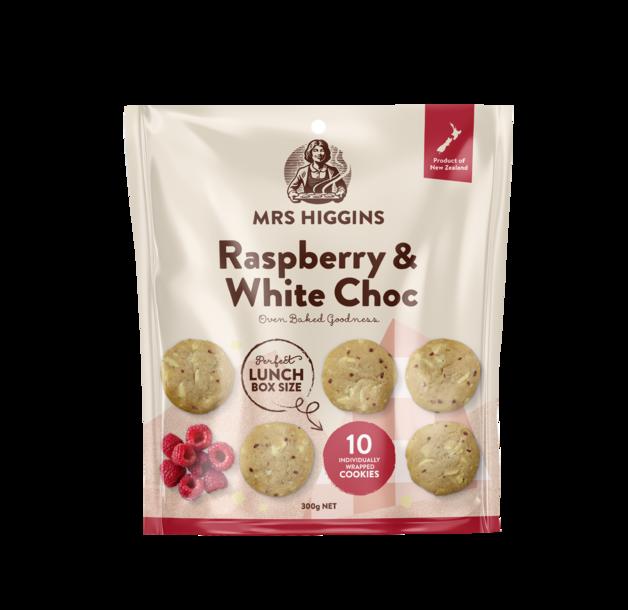 Mrs Higgins Raspberry White Choc Multipack 10pk