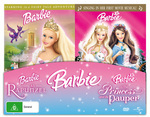 Barbie 2 Movie Set - Princess And The Pauper / Rapunzel (2 Disc Set) on DVD
