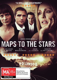 Maps to the Stars on DVD image