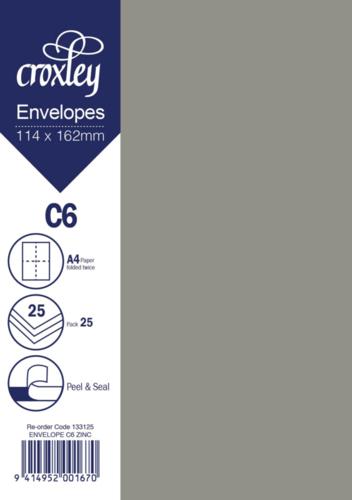 Envelope C6 Zinc - 114x162mm (Pack 25)