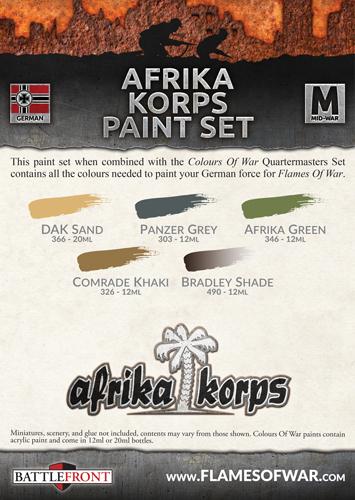 Flames of War: Afrika Korps - Paint Set image
