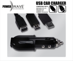 Powerwave Car Charger with USB - Black for Nintendo DS