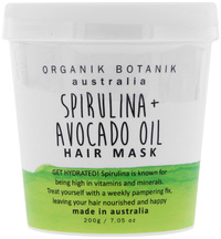 Organik Botanik Hair Mask Tub - Spirulina & Avocado (200gm)