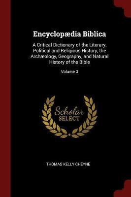 Encyclopaedia Biblica by Thomas Kelly Cheyne image