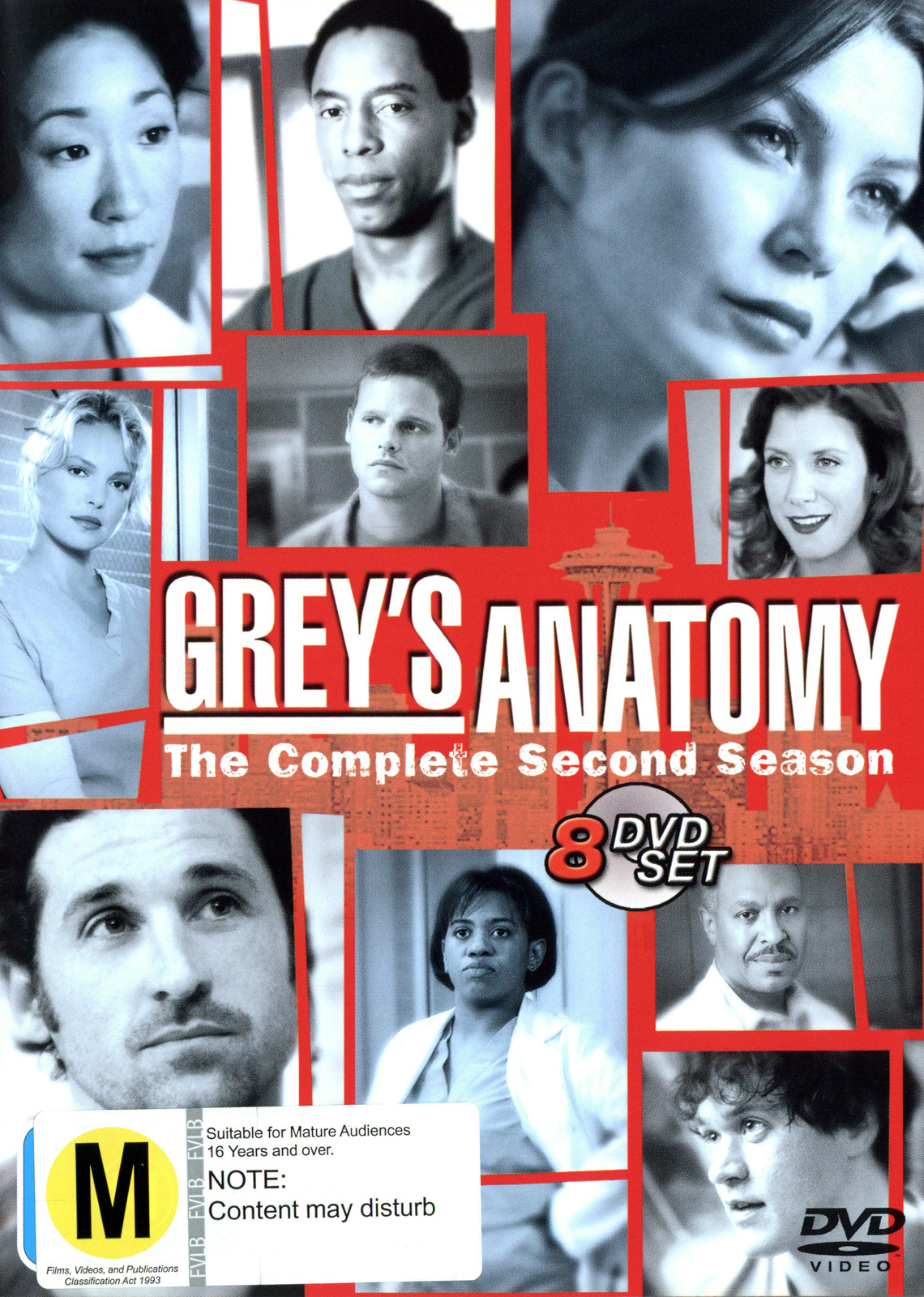 Grey's Anatomy - Season 2 (8 Disc Slimline Set) on DVD image