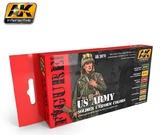 AK US Army Soldier Uniform Colours - Acrylic Paint Set