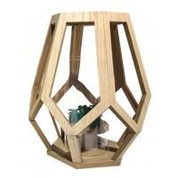 Timber Lantern Teardrop (27cm)